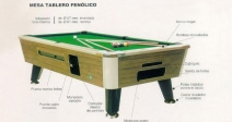 Mesa de Billar Modelo King Pool de 7'